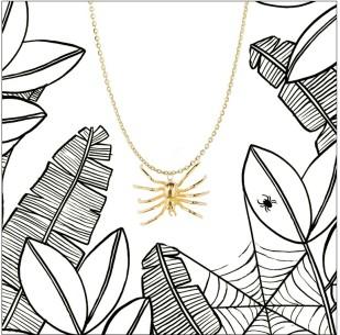 Aurélie Bidermann for Yoox Spider Necklace