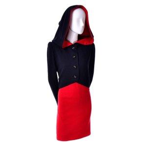 Givenchy_vintage_hood_dress_red_1980's $1200 1stDibs