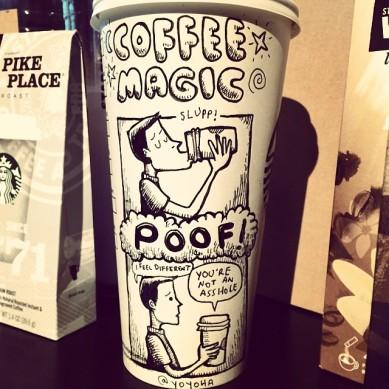 Josh Hara coffee magic cup