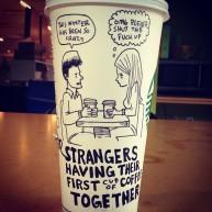 Josh Hara date coffee cup