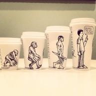 Josh Hara growth of humans coffee cup