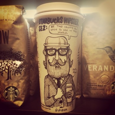 Josh Hara Hipster coffee cup
