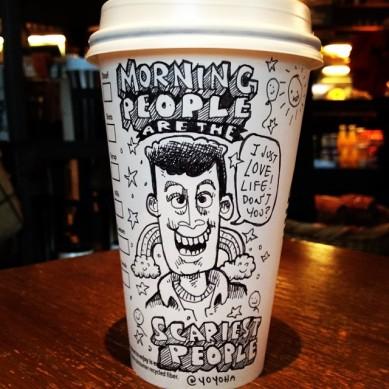 Josh Hara morning coffee