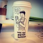 Josh Hara name coffee cup