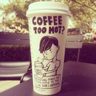 Josh Hara too hot coffee cup