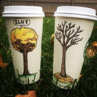 Josh Hara trees coffee cup