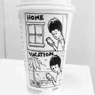 Josh Hara vacation coffee cup