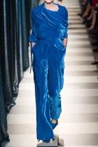 Monse Off-the-shoulder Blue Velvet Blouse
