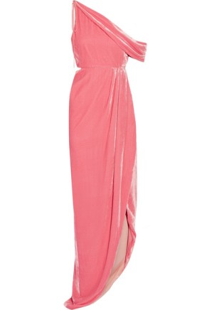 Monse one side Pink Velvet Dress