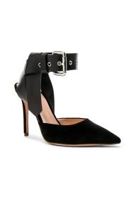 Monse Velvet Heels $890 black 2
