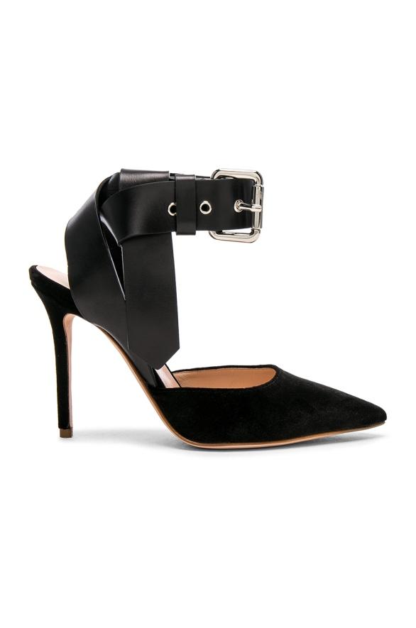 Monse Velvet Heels $890 black