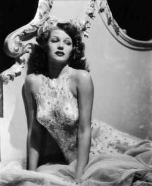 Rita Hayworth, by George Hurrell 1942 Negligee