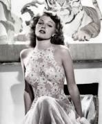 Rita Hayworth Floral top negligee