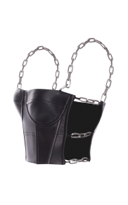 alexander-wang-black-chain-strap-bustier-top
