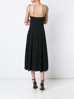 alexander-wang-navy-chain-strap-a-line-bustier-dress-back