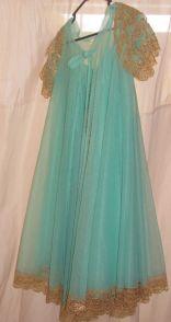 Aqua blue peignoir-vintage-lingerie