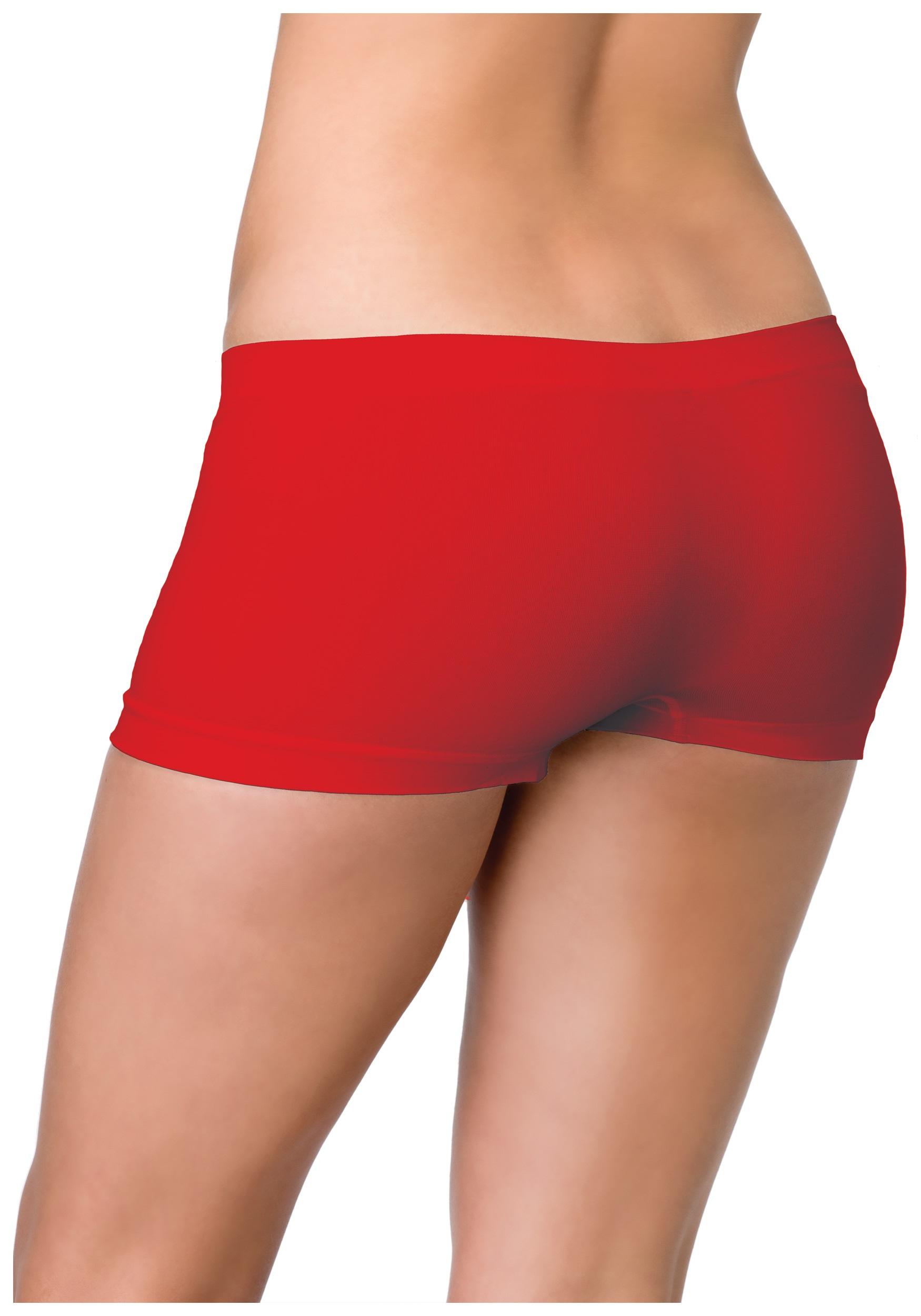 ladies-red-seamless-boyshorts