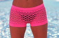Mesh boyshorts hot pink