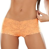 Orange lace boyshorts