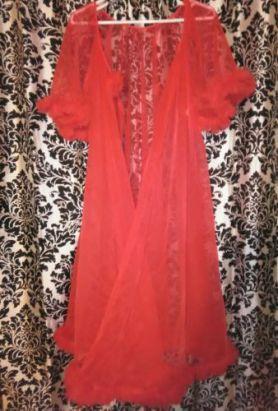 vintage-peignoir-robe-by-lisette-polka-dot-chiffon-ruffles-small