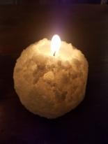 A snowball which glows