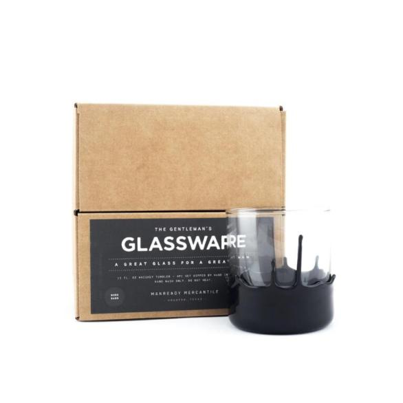 Bass Gentleman's Glassware Set Manready Mercantile black dipped $36