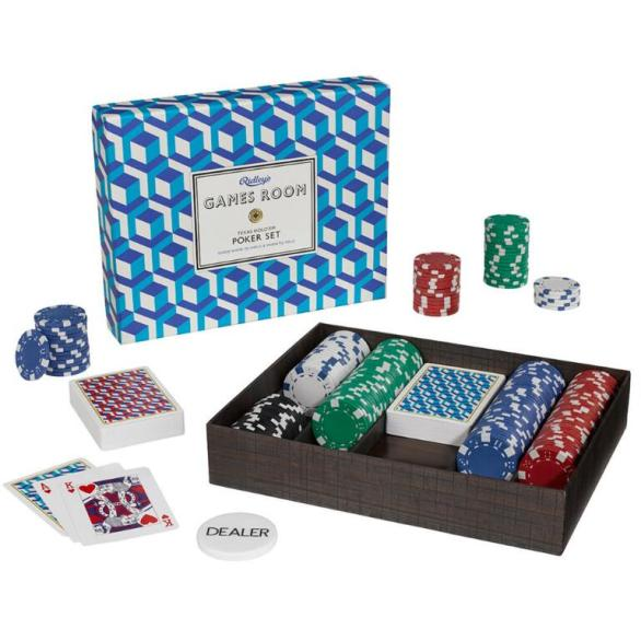 Bass Ridley's Poker Set $52