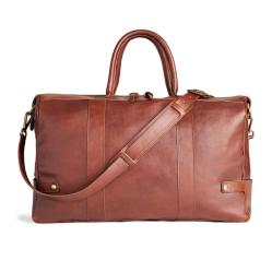 Bass Santana Leather Duffle Brandy $395