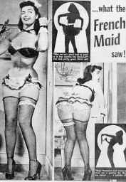 bettie page french maid ad