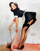 French Maid Clean Sweep Gil Evgren