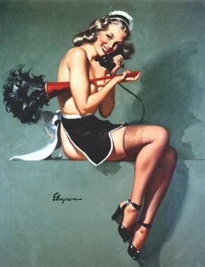 French Maid Gil Elvgren