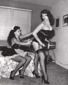 French Maid pulling a corset