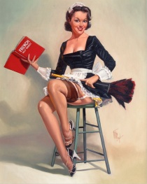 Fritz Clough French Maid pin-up