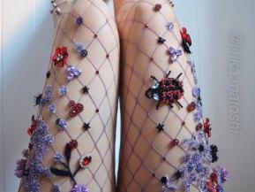 Lirika Matoshi Ladybug Fishnet Tights