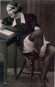 risquepostcard38 french maid