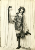 Rolled Stockings Masked Flapper