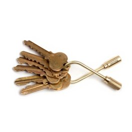 Uncommon Goods Closed Helix Key Ring $30