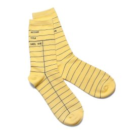 Uncommon Goods Library Card Socks $10