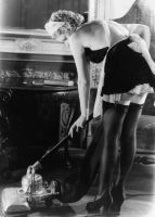 Vacumming in French Maid vintage