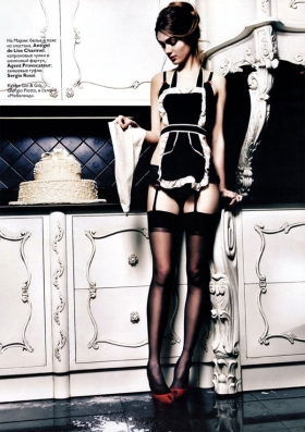 Vogue Russia - French maid pictorial