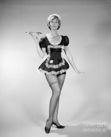 Woman In French Maid Outfit, C.1960s Photograph by H. Armstrong Roberts