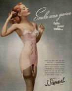 1940s pink french girdle corset