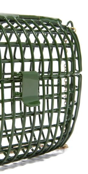 anndra neen cage bag green