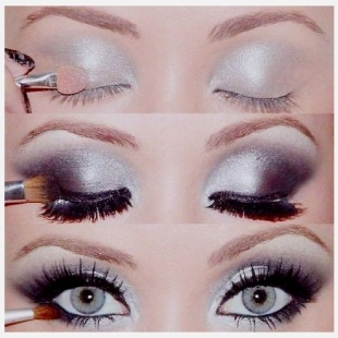 Grey-Smokey-Eye-Makeup-Tutorial
