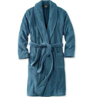 L.L. Bean Men's Terry Cloth Robe Cotton