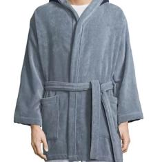 Monster Hooded Robe, Gray Blue