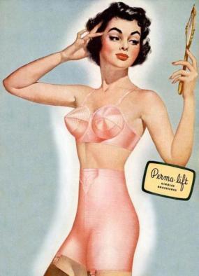 Perma lift vintage bra ad 1950's