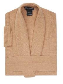 Sofia Cashmere Thermal Cashmere Robe $399 Camel