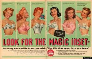 vintage bras 1950's ad