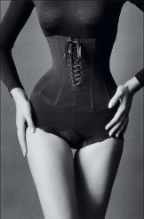 1950's corset black